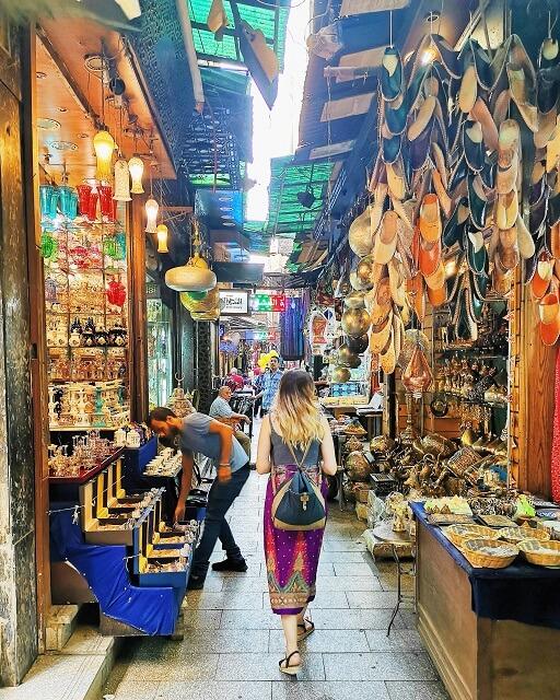 Callejeando por el mercado de Khan el Khalili