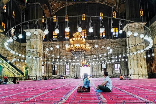 Interior mezquita de Alabastro, El Cairo