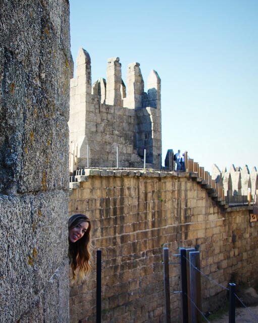 interior del Castillo de Guimaraes