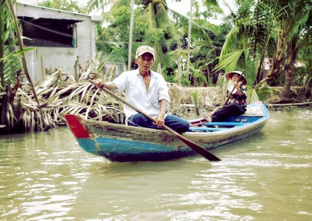 Excursion delta del mekong
