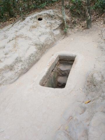 Entrada tuneles de Cu Chi