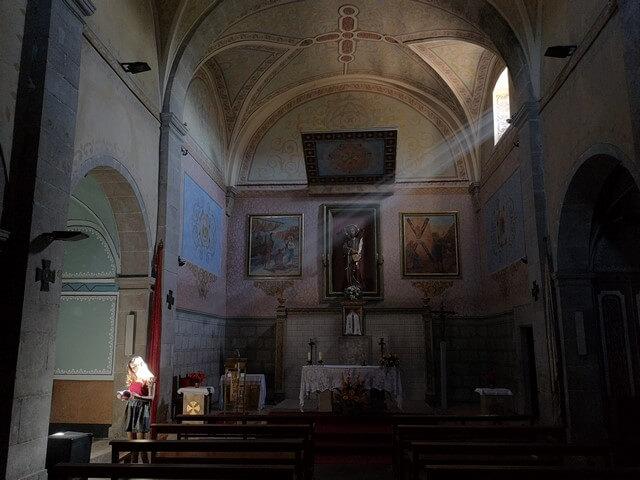 Interior Iglesia Sant Andreu de Rupit