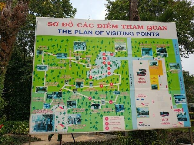 Mapa tuneles de Cu Chi Vietnam