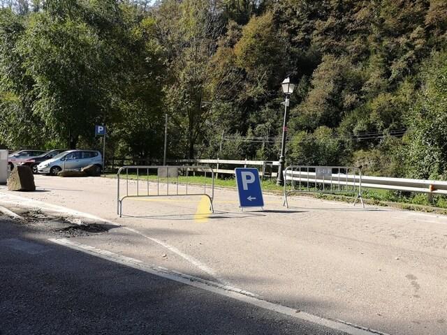 Parking Rupit cerrado