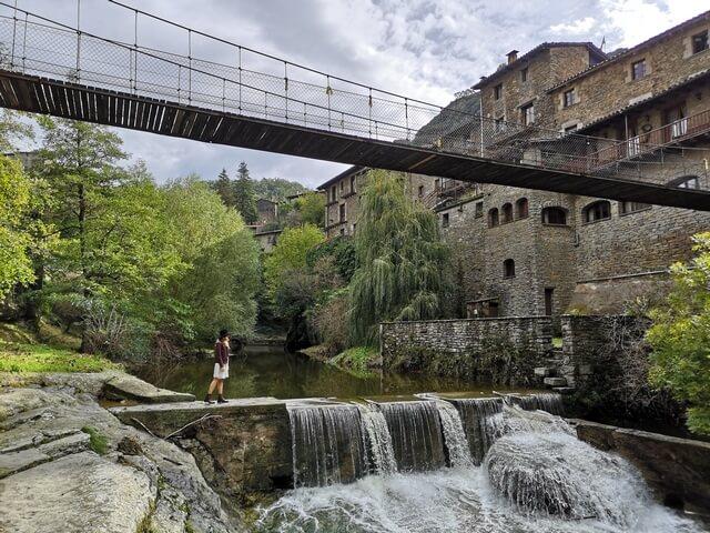 Puente colgante Rupit