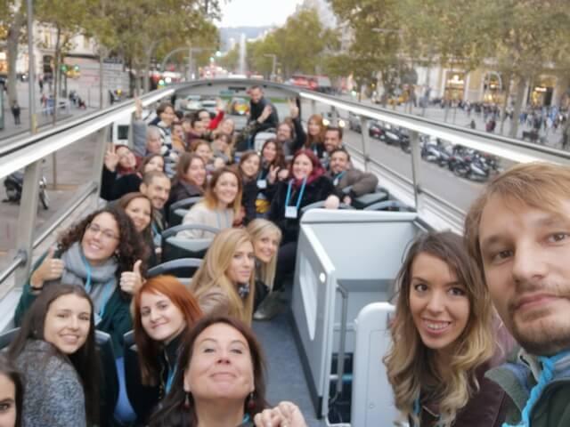 Instagramers en el Bus Turistic de Barcelona