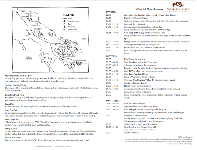 Itinerario 3 dias por la bahia de halong