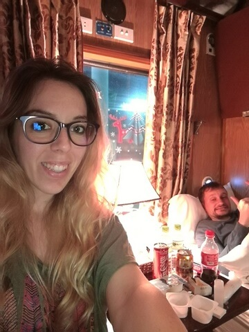 Nuestro compartimento en el Sapaly Express