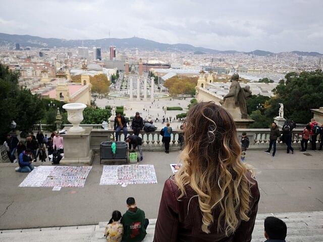 Vistas de Barcelona desde el MNAC
