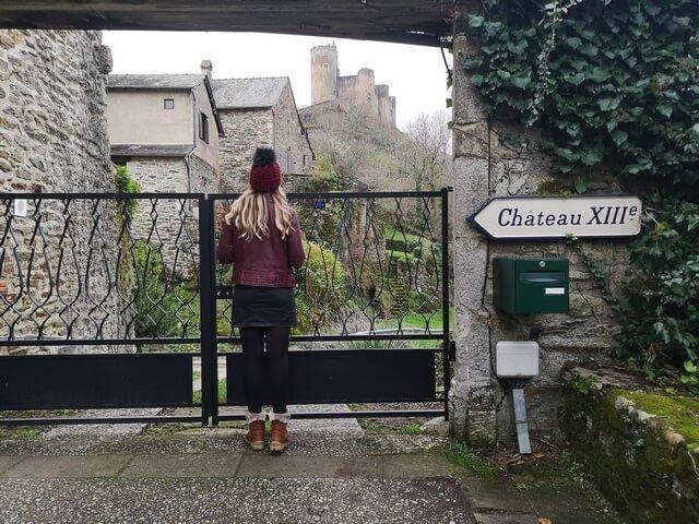 Castillo Najac puerta cerrada