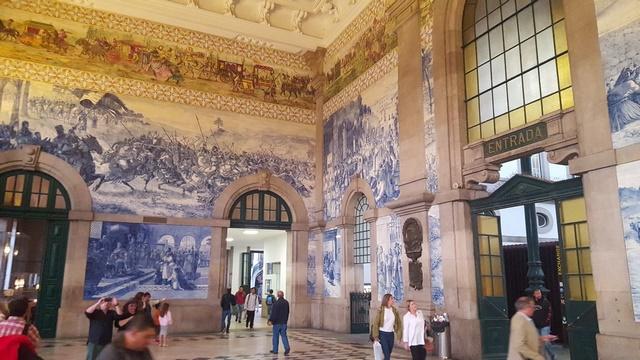 Mosaicos estación tren Oporto