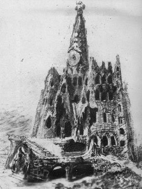 Idea Inicial de Gaudi de la Iglesia de la Colonia Guell