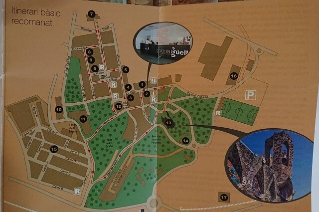 Mapa Colonia Guell