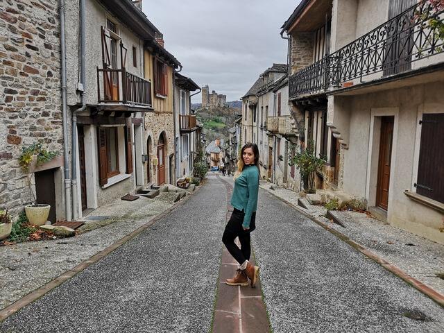 Najac Midi Pyrenees calle mas famosa