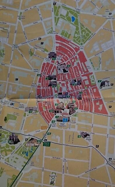 Mapa centro de Vitoria