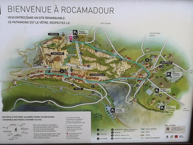 Rocamadour Mapa