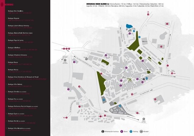 Mapa Bodegas ElCiego, rioja alavesa
