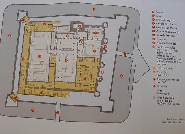 Mapa Palacio Aljafería