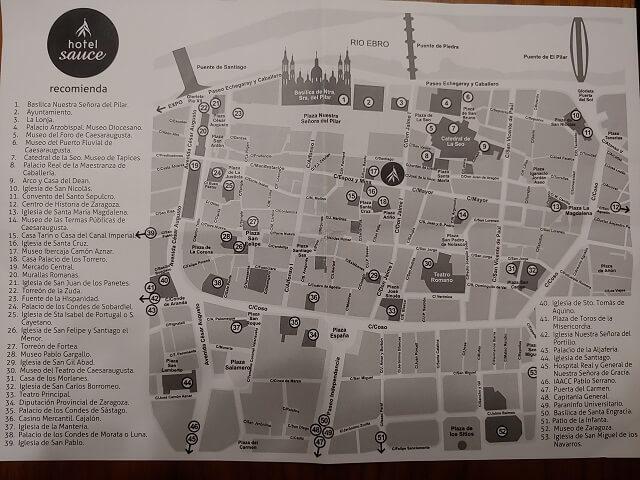 Mapa Zaragoza centro
