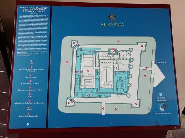 Plano Aljafería Zaragoza