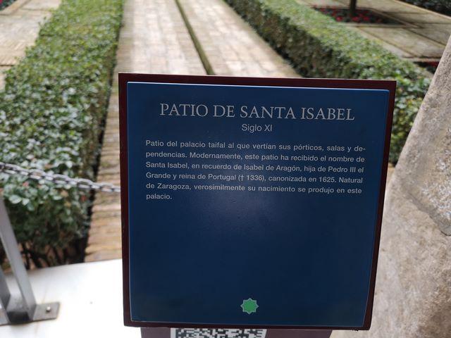 Patio Santa Isabel Aljafería