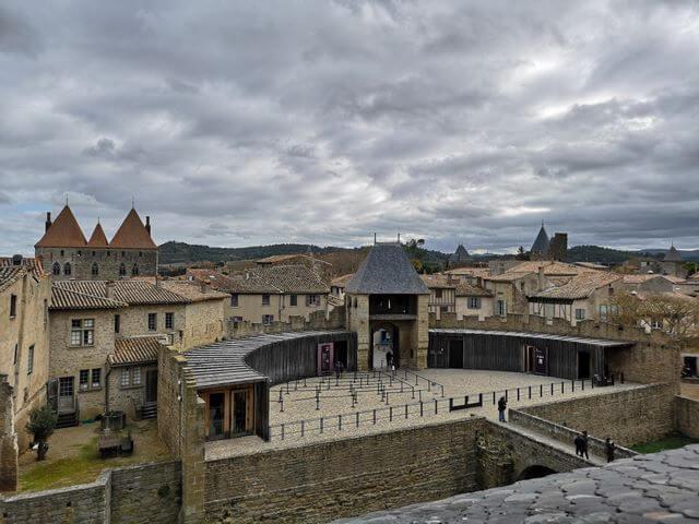 Entrada castillo de Carcassonne