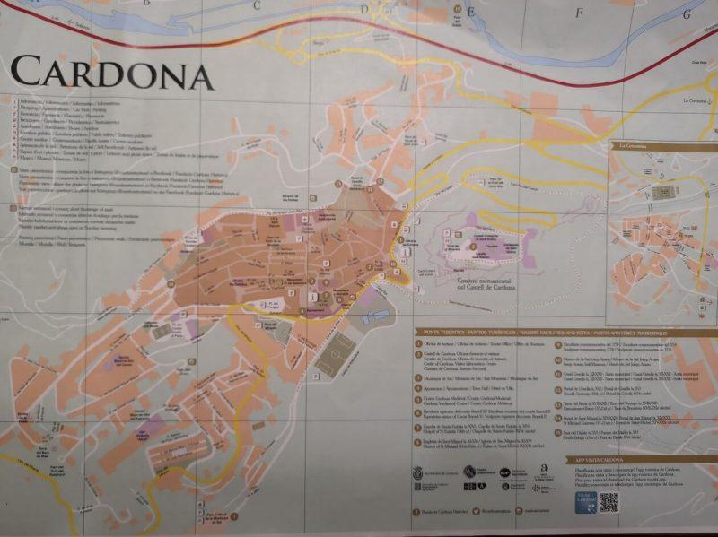 Mapa de Cardona