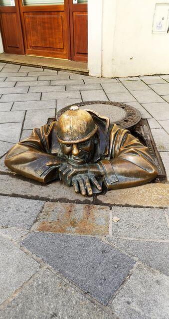 Figuras bronce Bratislava