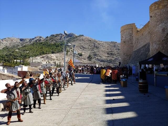 Asedio castillo villena fiestas medievo