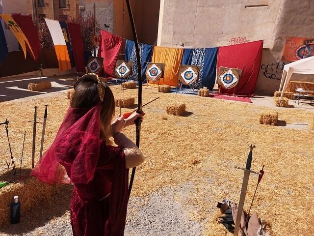Tiro con arco en Villena Fiestas del Medievo