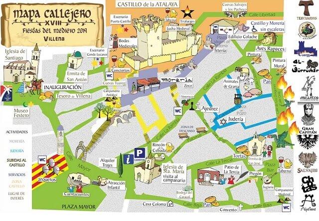 Mapa Fiestas del Medievo