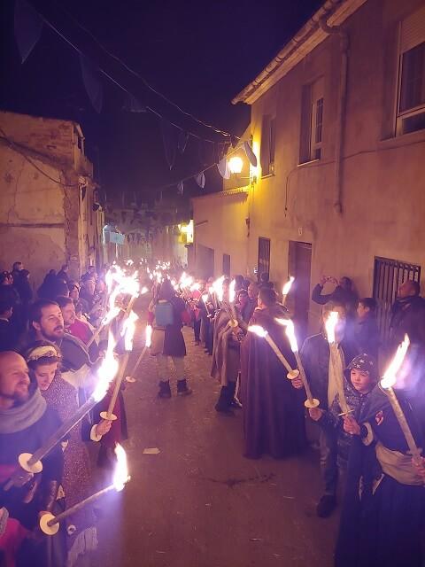 Procesion de las Antorchas en Villena Fiestas Medievo