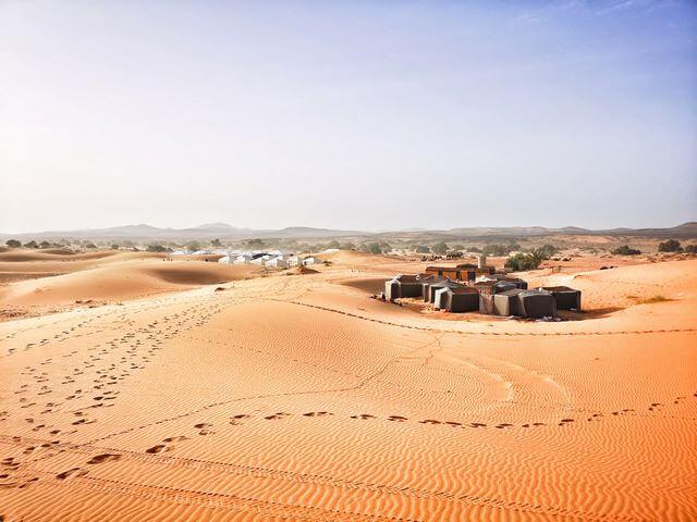 Desierto de merzouga campamento