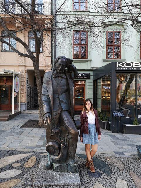 Estatua Bratislava Hans Christian Andersen