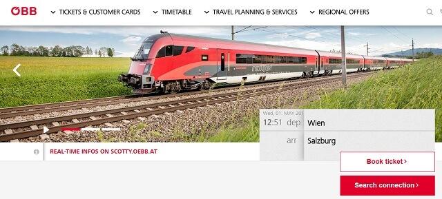 Tren de viena a Salzburgo