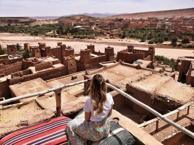 Cafe con las mejores vistas de Ait Ben Haddou, Marruecos
