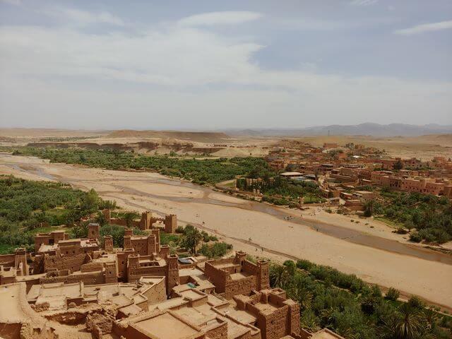Vistas desde la Kasbah ait ben haddou Marruecos