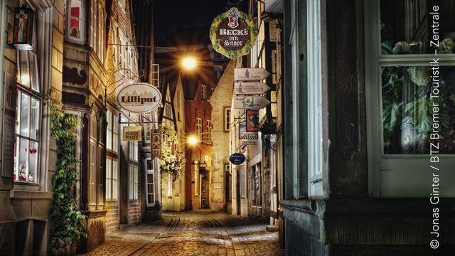 Schnoor - Nacht Bremen