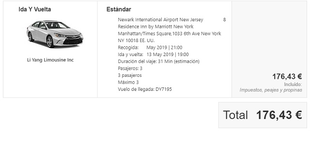 Traslado privado Newark manhattan