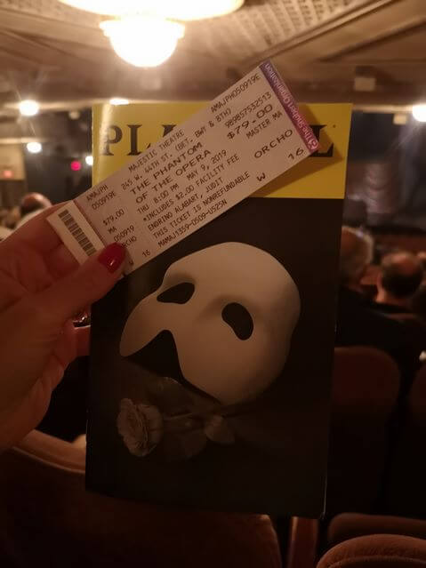 Musical en Broadway Fantasma de la Opera
