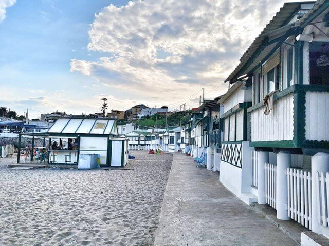 Playa Garraf casetas Barcelona