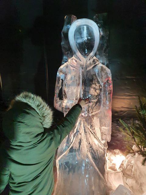 Figuras hielo le barcares village noel sur de francia
