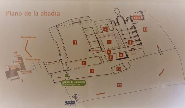 Mapa Abadia de Fontfroide