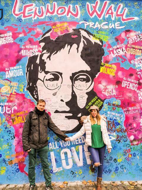 Muro John Lennon en Mala Strana Praga