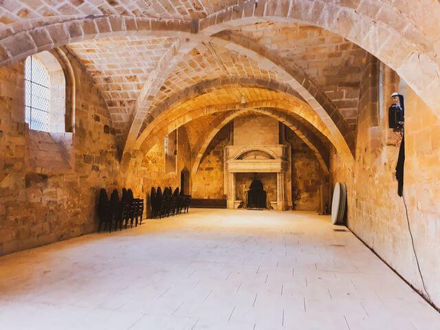 Refectorio de los legos Abadia Fontfroide