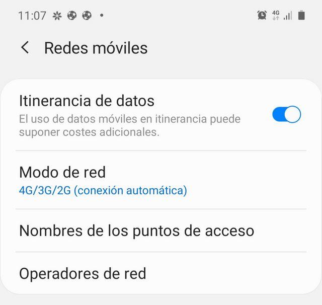 Activar itinerancia de datos roaming eeuu