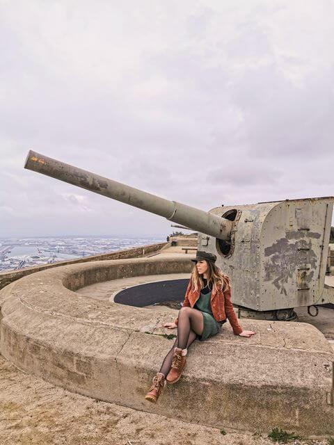 Armamento en el Castillo de Montjuic