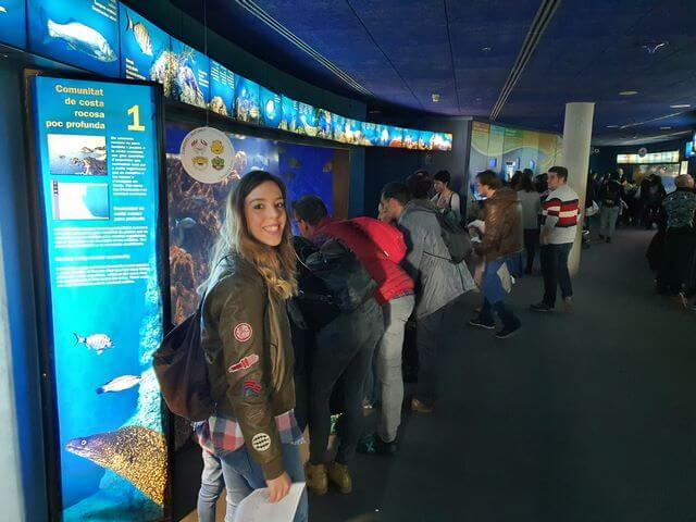 Empezamos la visita al aquarium comunidad costa rocosa