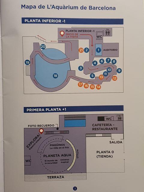 Mapa Aquarium Barcelona