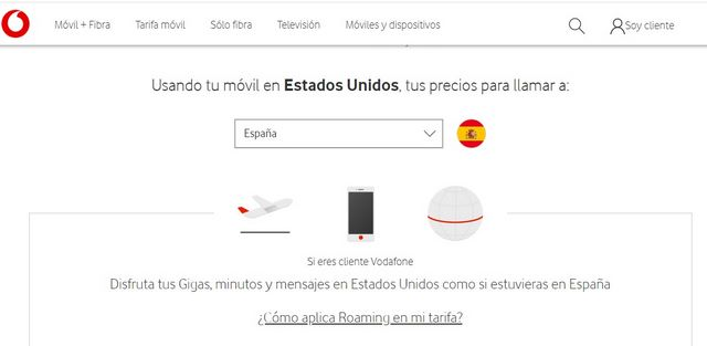Roaming EEUU Vodafone